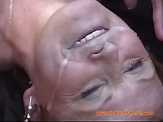 Granny Cum Eating and..
