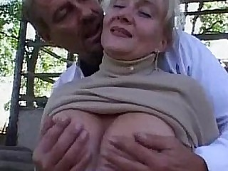 Granny gets fucked in the..