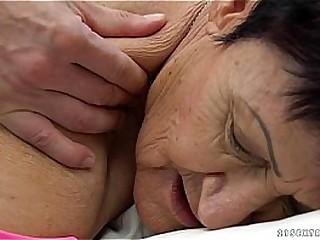 Granny eats a young..