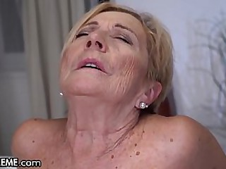 Busty Granny Loves Playing..
