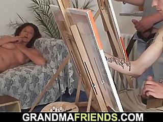 Old granny having fun with..