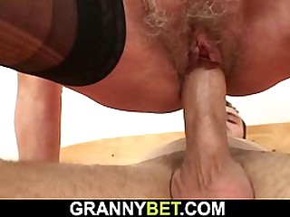 Hairy granny picked up for..