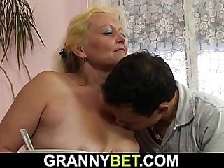Old blonde granny