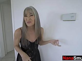 Slim granny loves fucking..