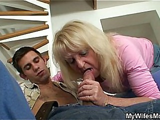 Blonde granny fucked with..