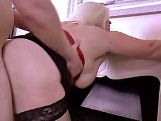 Busty Granny Sucks Cock and..
