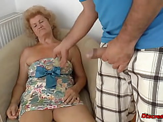 Old Mature blonde woman..