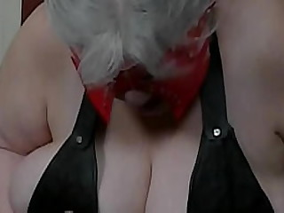Granny tits t. with a spiked..