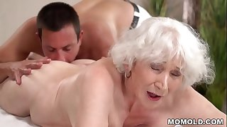 Old mom Norma enjoys sex..